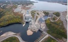 在魁北克,加拿大最新的水电大坝准备就绪