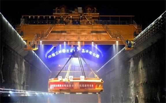 世界首台百万千瓦机组座环吊装