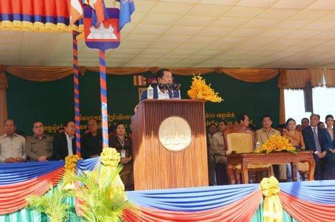 柬埔寨首相洪森出席桑河电站竣工仪式
