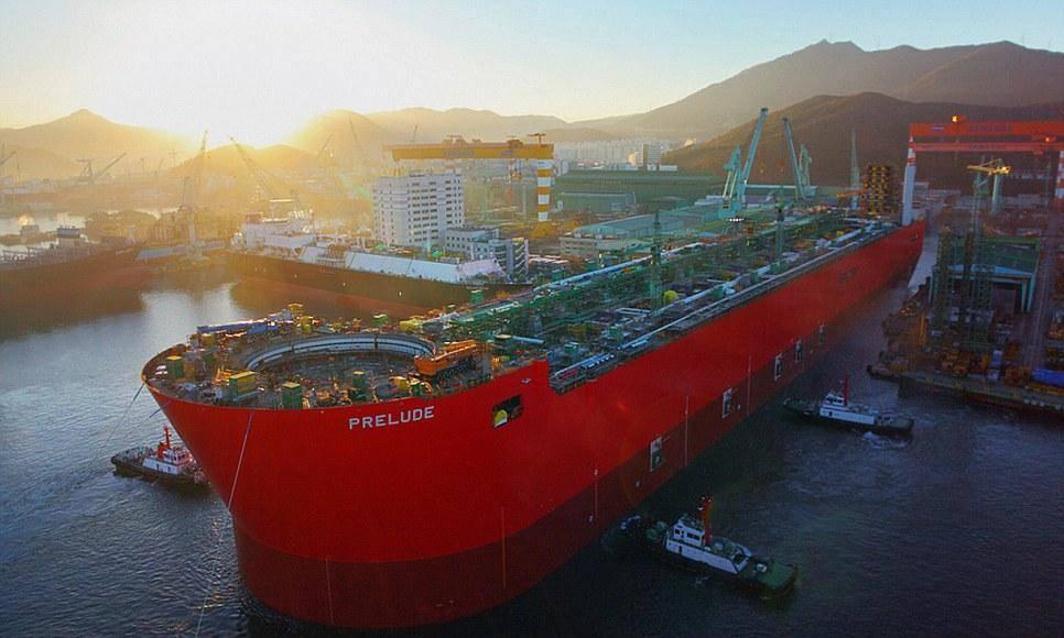 壳牌公司在澳大利亚的Prelude FLNG工厂开通海底油井!