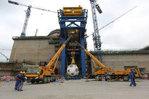 """""""华龙一号""""示范工程福清核电6号机组二环蒸发器上线  重约365吨!"""