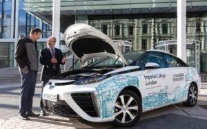 伦敦帝国学院获得丰田Mirai燃料电池汽车支持氢动力研究
