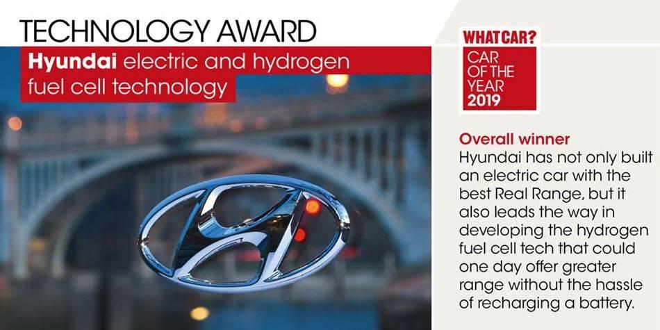 现代汽车英国公司在年度车型典礼获得四项大奖?领先开发氢燃料电池技术!