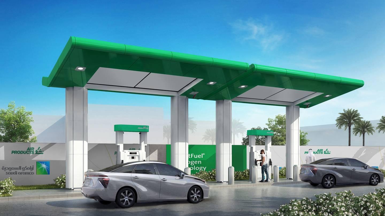 沙特阿美公司和空气产品公司将建造沙特阿拉伯第一座氢燃料电池汽车加油站