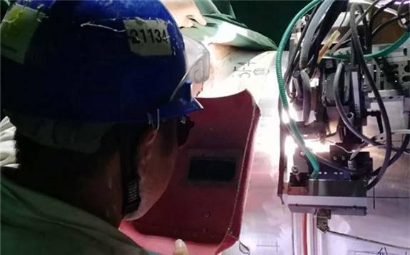 """海外""""华龙一号""""卡拉奇核电3号机组主管道冷段焊接圆满完成"""