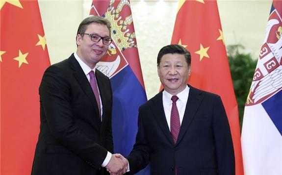 """塞尔维亚总统:坚定支撑并将继续积极参与""""一带一路""""建设"""