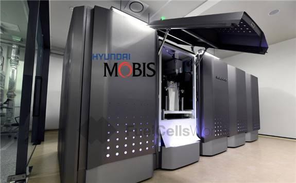 现代Mobis在韩国忠州总部首次推出氢燃料电池发电系统