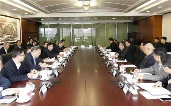 国家电网公司董事长寇伟与三峡集团董事长雷鸣山、总经理王琳会谈