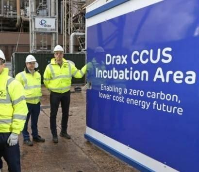 英国Drax电站的创新生物能源碳捕集与封存(BECCS)试点中捕获CO2