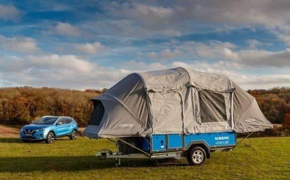 日产Leaf纯电动车选择与野营制造商Opus合作,在露营概念车中安装一个700wH的回收电池
