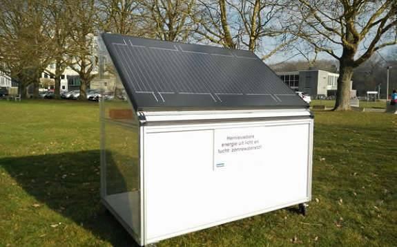 比利时科学家利用太阳能和水蒸气结合在一起的装置,全年平均每天产生250升氢气
