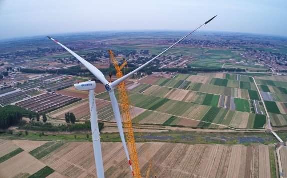 中天金水12MW分散式风力发电项目顺利进行开工奠基