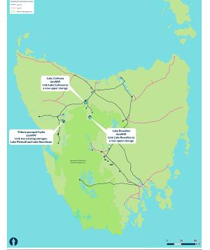 澳大利亚Hydro Tasmania展示了三个最有前途的抽水蓄能水电站