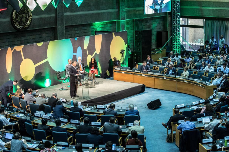 第四届联合国环境大会正式发布《全球能源互联网促进全球环境治理行动计划》