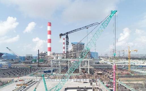 中国华电海外最大燃煤电厂高空安装工作全面启动