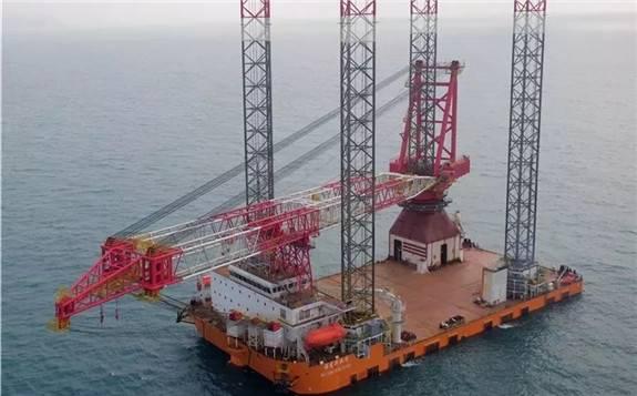 中广核1200吨自升式风电安装平台完成海试