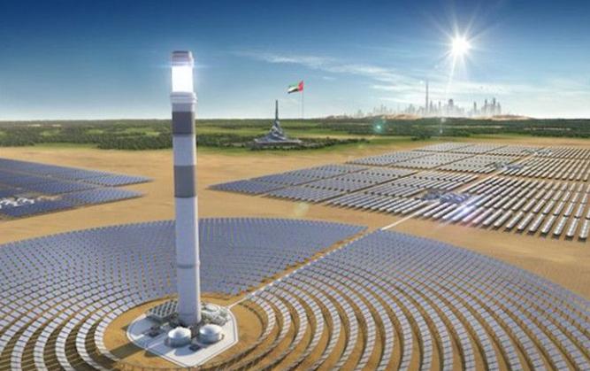 旭孚新能源供货迪拜600MW槽式光热发电项目全部液压跟踪系统