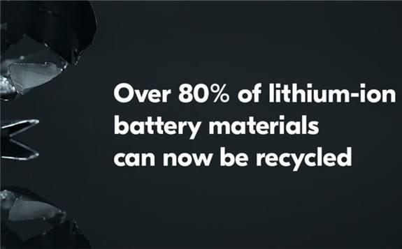 芬兰清洁能源公司二氧化碳湿法冶金回收工艺使锂电池回收率达80%以上