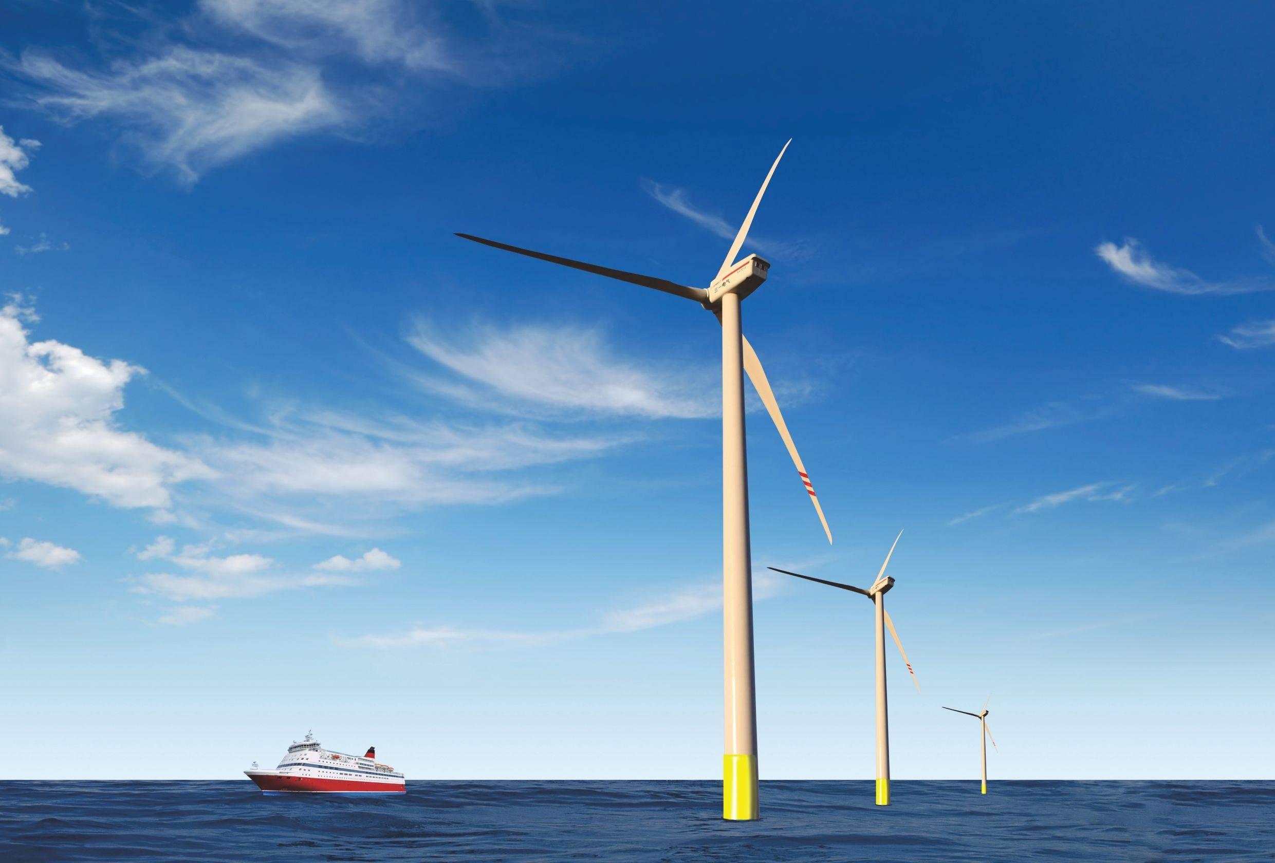 国内离岸最远的近海风电场首批机组在盐城市大丰区投产