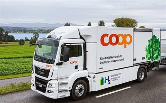 Coop使用燃料电池卡车,九分钟内加满氢气,续航里程可达400公里