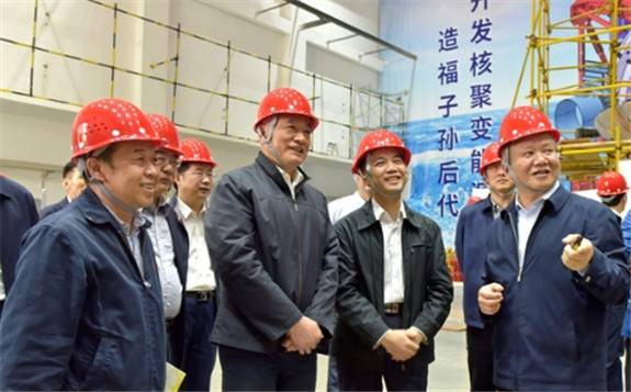 国家科技部党组书记、部长王志刚调研核西物院