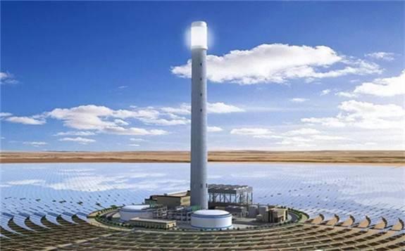 乌拉特中旗导热油槽式100MW光热发电项目1-4月份完成投资1.08亿元