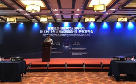"""""""能源经济与能源安全国际论坛""""暨《2019年世界能源蓝皮书》发布会在京举行"""