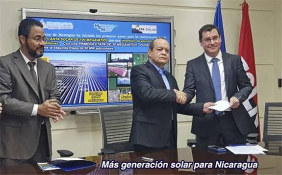 尼加拉瓜寻找100MW太阳能项目的外国赞助商