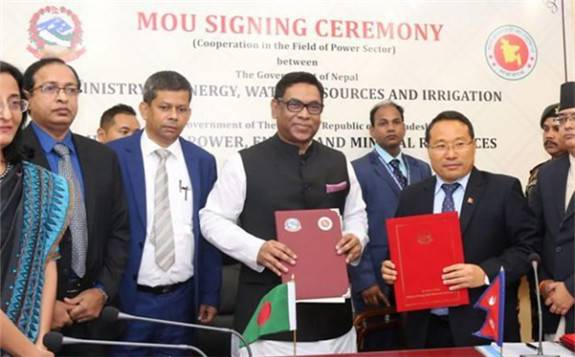 尼泊尔和孟加拉国就联合投资水电项目达成一致意见