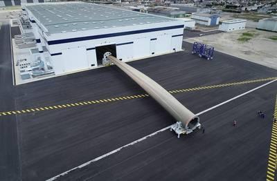 世界上最长的风力涡轮机叶片出现