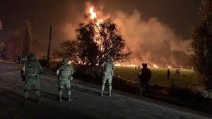 墨西哥国家石油企业原油管道发生爆炸
