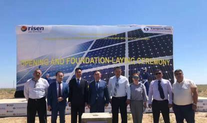 东方日升哈萨克斯坦50MWpEPC光伏电站开建
