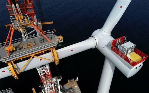 世界最大海上风电场总装机预计1.2GW!已成功吊装100台7MW海上风机