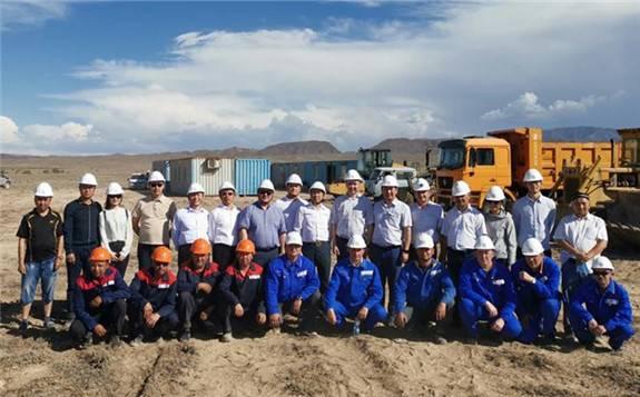 中國電建控股投資的哈薩克斯坦謝列克一期風電項目開工