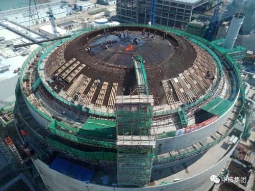 华龙一号全球首堆外穹顶封顶完成