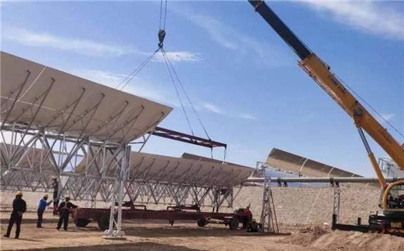 乌拉特中旗导热油槽式100MW光热发电项目进入攻坚阶段