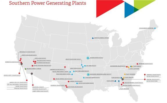 美国Southern Power企业计划开发4个电网规模的新浦京项目