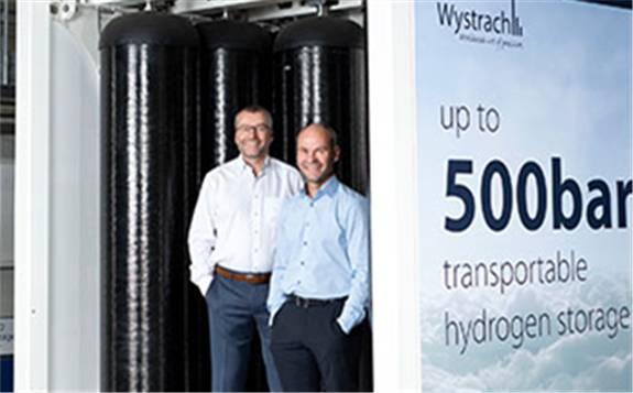 Wystrach为世界上第一台氢燃料电池列车提供预组装H2储罐系统