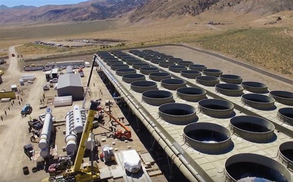 内华达州Ormat混合太阳能地热发电厂开始运营
