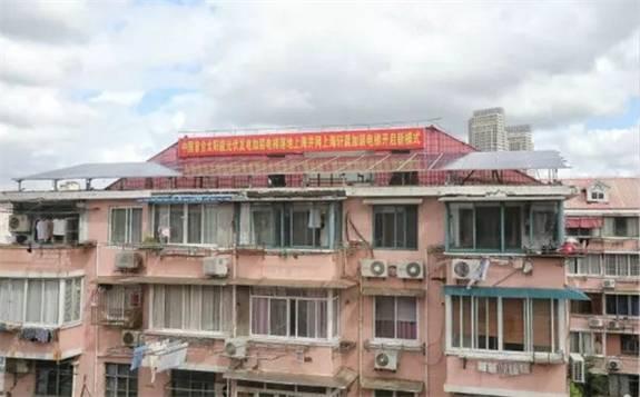 上海首台太阳能电梯加装成功