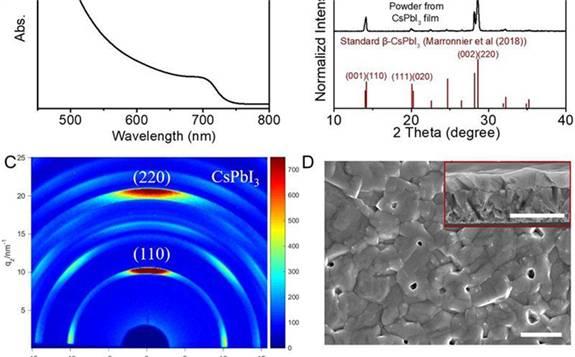 《科学》发表上海交通大学赵一新团队CsPbI3全无机钙钛矿太阳能电池最新研究成果