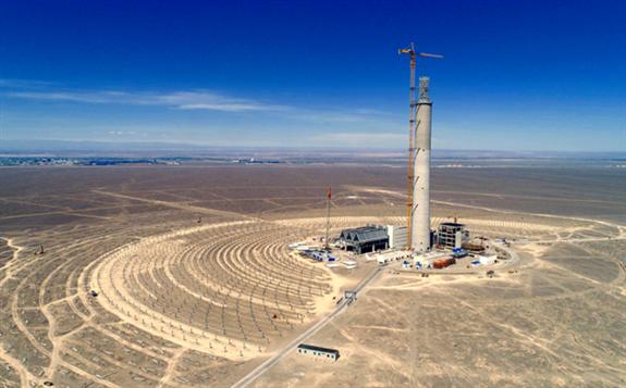 中国能建哈密光热发电项目倒送电一次成功