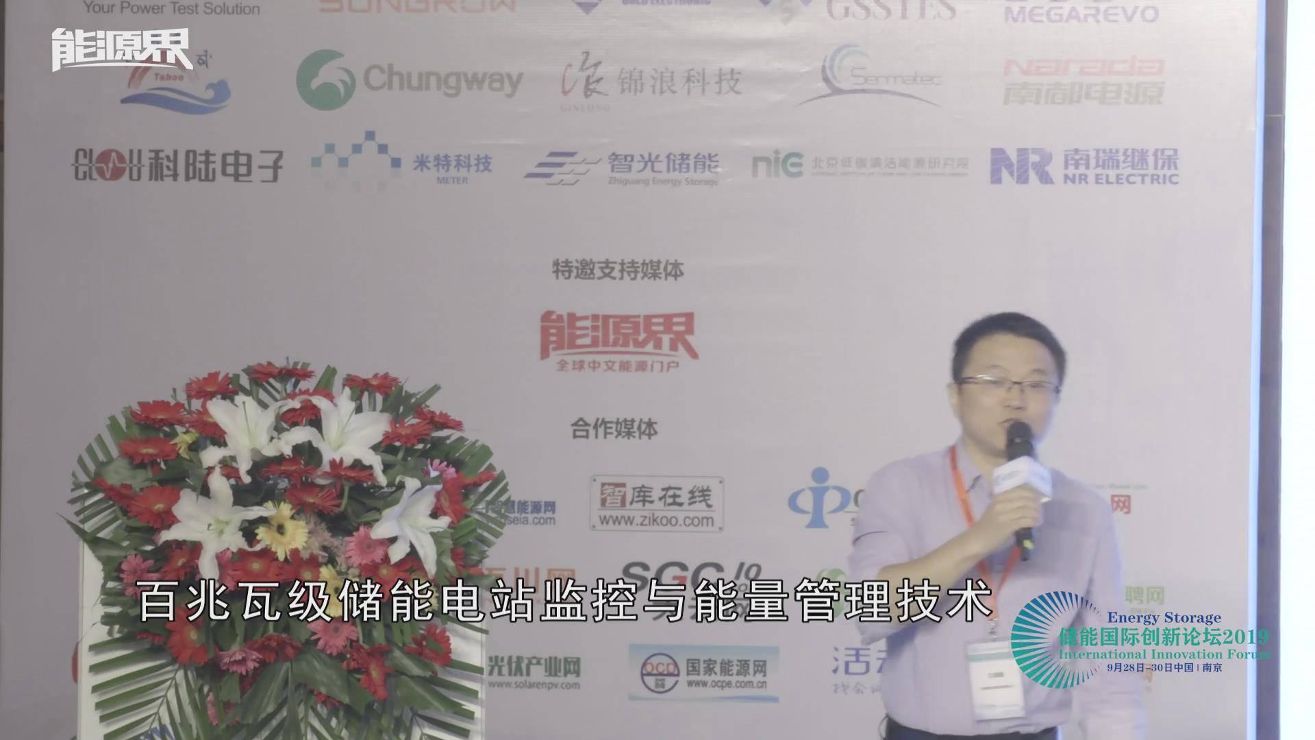 王德顺:百兆瓦级储能电站监控与能量管理技术