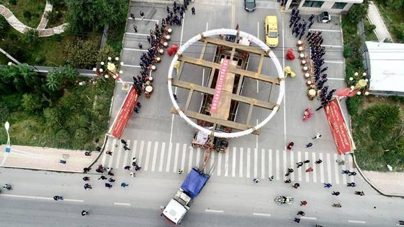 全球单体最重、直径最大的巨型环锻件在济南成功发运