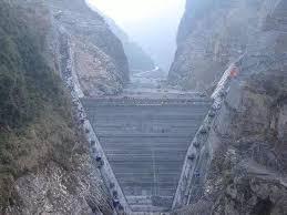 北鹤峰县江坪河水电站下闸蓄水