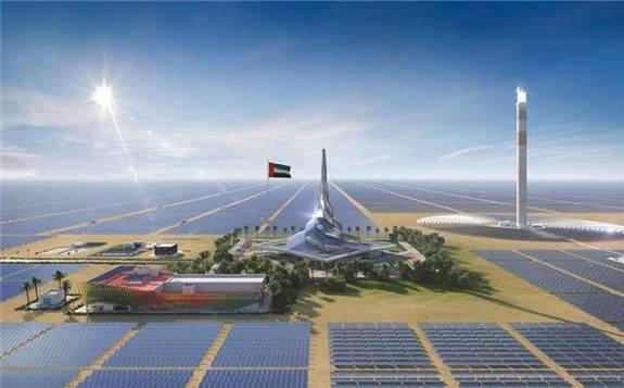 湖南火电与上海电气签订迪拜950MW光热光伏混合项目施工D、G标段合同