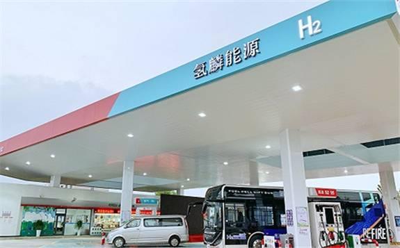 上海首批油氢合建站开启试运行