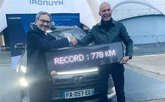 现代Nexo氢能燃料电池汽车行驶距离创纪录