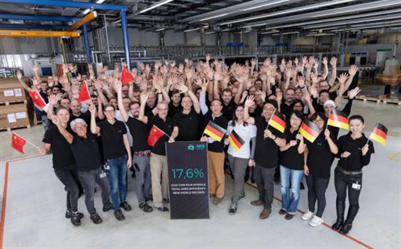 神华光伏科技研发企业以17.6%获得全面积CIGS组件转换效率世界纪录