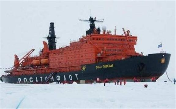 """俄""""北极""""号核动力破冰船开始飞行试验"""